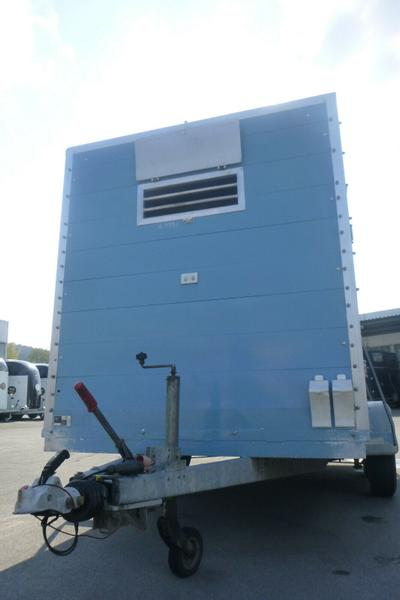 HKM Viehtransporter, 3,5to, Blau, Vollaluminium