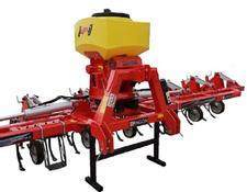 AWEMAK Hydraulic folding interrow cultivator DRAGON TP 7 with pneumatic seed drill APV PS200M1